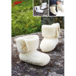 Järbo Baby Boots - Knitted Baby Boots Elise size Premature - 1/2 years