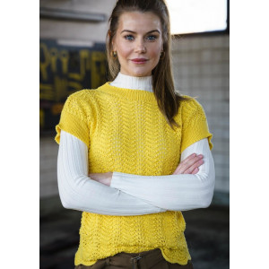 Mayflower Blouse with Peacock Pattern - Knitted Blouse Pattern Sizes S-XXXL