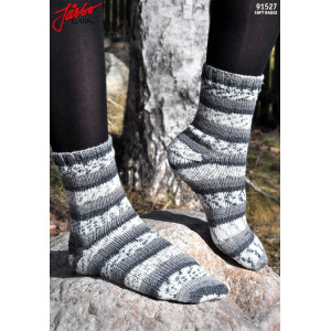 Järbo Socks with Strech Soft Raggi - Knitted Socks Pattern size 21-45