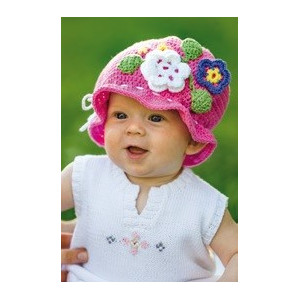 Järbo Sunshine - Crochet Baby Hat with Flowers Pattern