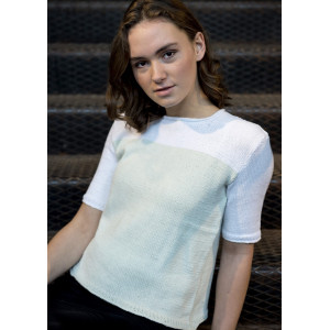 Mayflower Knitted Blouse with Squared Neck - T-shirt Pattern size S - XXXL