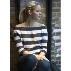 Mayflower Knitted Stripes Colorwork Blouse Pattern size S - XXL