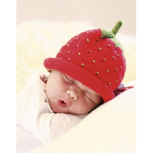 Sweet Strawberry by DROPS Design - Knitted Baby Hat Pattern size 1 months - 4 years