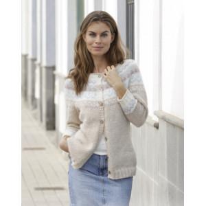 Nougat Cardiganby DROPS Design - Jacket Knitting Pattern str. S - XXXL
