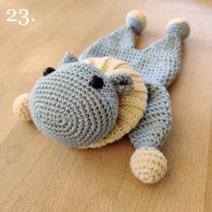 Nora the Hippo by Rito Krea - Amigurumi Crochet Pattern 22x14cm