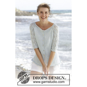 Sea Nymph Cardigan by DROPS Design - Knitted Jacket Pattern size S - XXXL