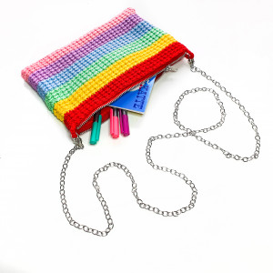 Rainbow Clutch by Rito Krea - Clutch Crochet Pattern 22x14cm