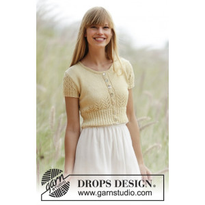 Spring Fling by DROPS Design - Knitted Bolero Pattern size S - XXXL