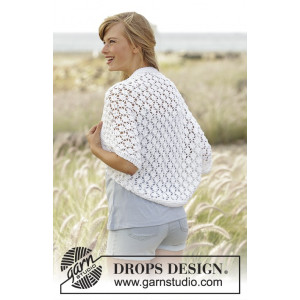 Always Cute by DROPS Design - Knitted Shoulder Piece Lace Pattern size S - XXXL