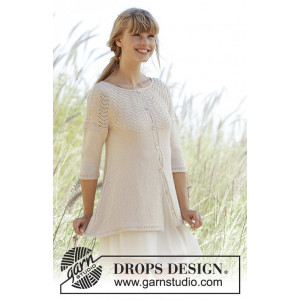 Dune Cardigan by DROPS Design - Knitted Jacket Pattern size S - XXXL