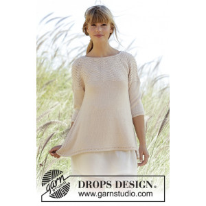 Dune by DROPS Design - Knitted Jumper with Wave Pattern size S - XXXL