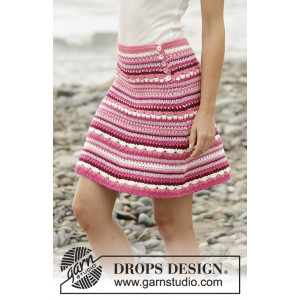 Berry Ripple by DROPS Design - Crochet Skirt Pattern size S - XXXL