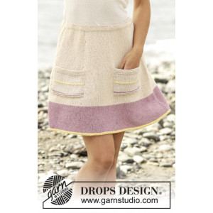 Spring Belle by DROPS Design - Knitted Skirt Top Down Pattern size S - XXXL