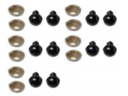 Infinity Hearts Safety Eyes / Amigurumi Eyes Black 35mm - 5 sets ... | 329x438