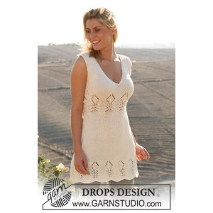 Spring Harvest by Drops Design - Knitted Dress Pattern size XS - XXL