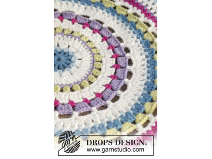 Color Wheel By Drops Design Crochet Rug Pattern 94 Cm Ritohobby
