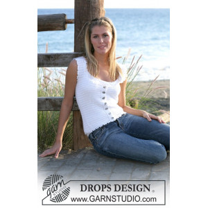 Dainty Miss by DROPS Design - Crochet Top Pattern size S - XL