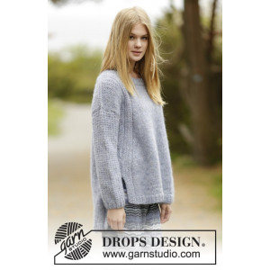 Sigrid by DROPS Design - Knitted Jumper Pattern size S - XXXL