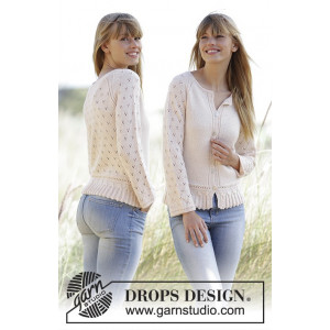 Jolly May by DROPS Design - Knitted Jacket Pattern size XS - XXXL