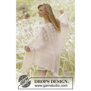 Sweet Leaves by DROPS Design - Knitted Shawl Pattern 150x75 cm