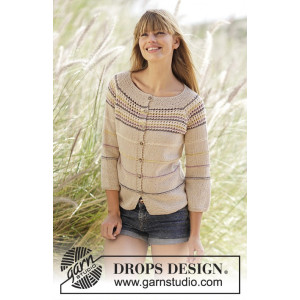 Freja Cardigan by DROPS Design - Knitted Jacket Pattern size S - XXXL