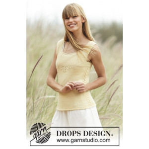 Fresh Lemonade by DROPS Design - Knitted with Lace Pattern size XS - XXL