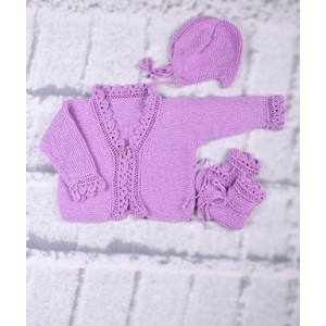 Mayflower Knitted Baby Set - jumper, hat and booties Pattern size 3 months - 18 months