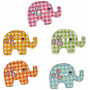 Infinity Hearts Buttons Wood Elephants ass. colours 29x20 mm - 50 pcs