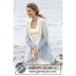 Shades of Sky by DROPS Design - Knitted Jacket Wave Pattern size S - XXXL