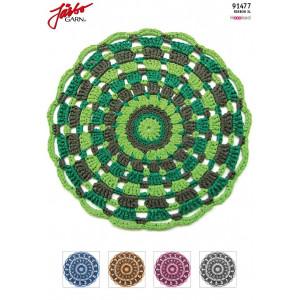 Hoooked DIY Crochet Kit Mandala Rug