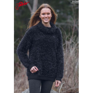 Järbo Knitted Sweater with turtleneck Pattern size XS/S - XL/XXL