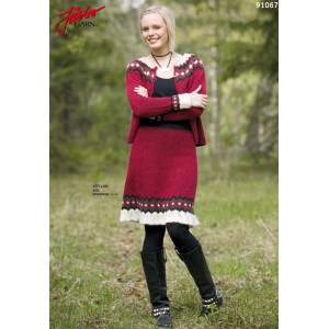 Ístex Knitted Dress with Ruffles Pattern size 34 - 44