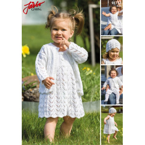 Järbo Knitted Dress, Cardigan and Hat Set for Baby and Kids Pattern size 0/2 months - 6/8 years