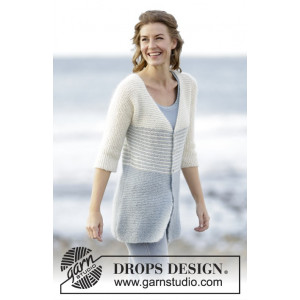 Irish Sea Cardigan by DROPS Design - Knitted Jacket with Stripes Pattern size S - XXXL