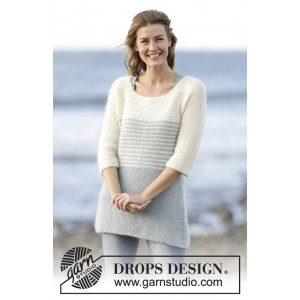 Irish Sea by DROPS Design - Knitted Jumper with Stripes Pattern size S - XXXL