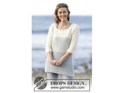 26078a46483c Irish Sea by DROPS Design - Knitted Jumper with Stripes Pattern size S -  XXXL