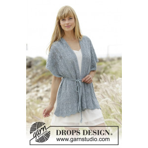 Moonlight Passage by DROPS Design - Knitted Scarf with Lace Pattern size S/M - XXL/XXXL