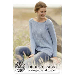 Morning at Home by DROPS Design - Knitted Jumper Double Moss Pattern size S - XXXL