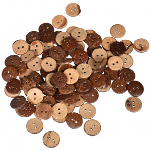 Infinity Hearts Buttons Coconut 15mm - 100 pcs