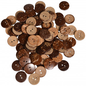 Infinity Hearts Buttons Coconut 20mm - 80 pcs
