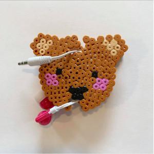 Earphone Holder by Rito Krea - Bear Bead Pattern 6.5cm
