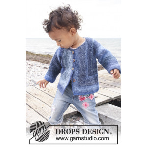 Corner Jacket by DROPS Design - Knitted Baby Jacket Pattern size 1 months - 4 years