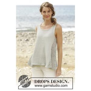 Venezia Top by DROPS Design - Knitted A-shape Top Lace Pattern size S - XXXL