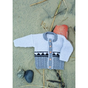 Mayflower Knitted Baby Cardigan with Cable Pattern size 1 months - 4 years