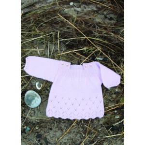 Mayflower Knitted Baby Dress with Lace Pattern size 0/1 months - 4 years