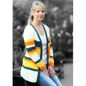 Mayflower Knitted Cardigan with Stripes Pattern size S - XXL