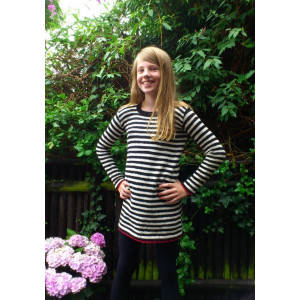 Mayflower Knitted Dress with Stripes for Kids Tunic Pattern size 8 years - 14 years