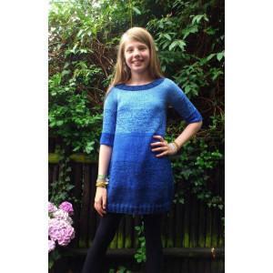 Mayflower Knitted Dip-dye Dress Pattern size 8 years - 14 years
