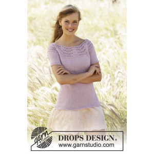 Becca by DROPS Design - Knitted Top with Wave Pattern size S - XXXL