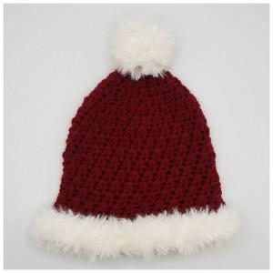 Christmas Hat by Rito Krea - Crochet pattern size 2 year